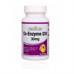 Co Enzyme q10 30 mg 30 softgels - Natures Aid