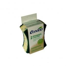 Esponjas com Esfregao Verde 2 unidades