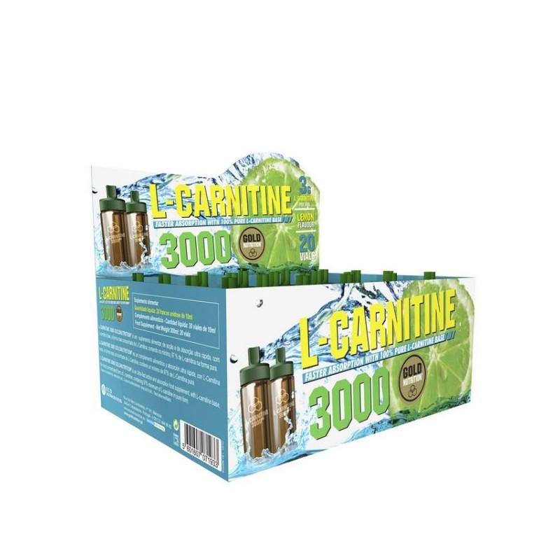 L-Carnitina 3000mg 20x 10ml Limão