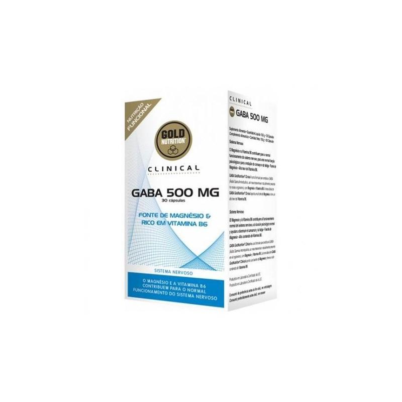 Gaba 500mg 30 cápsulas Gold Nutrion