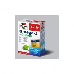 Omega- 3 + Ginkgo Biloba 60 Cápsulas Doppel herz Aktiv