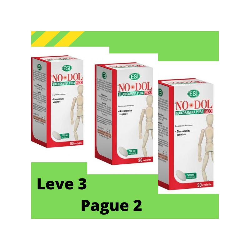No Dol Glucosamina Vegetal Pura 500 mg 90 comprimidos - Esi Leve 3 Pague2