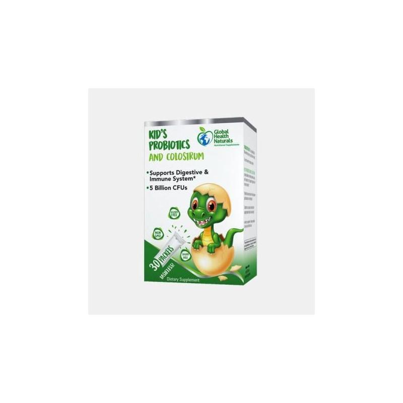Global Health Naturals Kid's Probiotics & Colostrum 30 saquetas