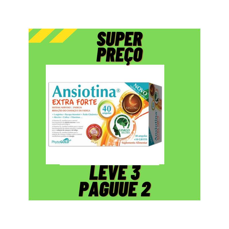 Ansiotina Extra Forte 40 ampolas Leve 3 Pague 2 Phytogold
