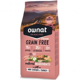 Ownat Prime Grain Free Mini Chicken & Turkey 1Kg