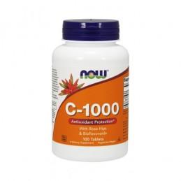 Vitamina C-1000 com Roseira Brava e Bioflavonoides 100 comprimidos - Now