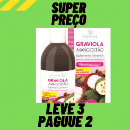 Graviola + Mangostao 500ml Leve 3 Pague 2