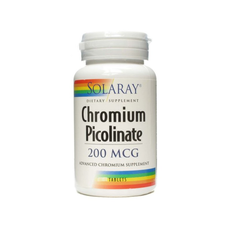 Chromium Picolinate 200mcg 50 tablets Solaray