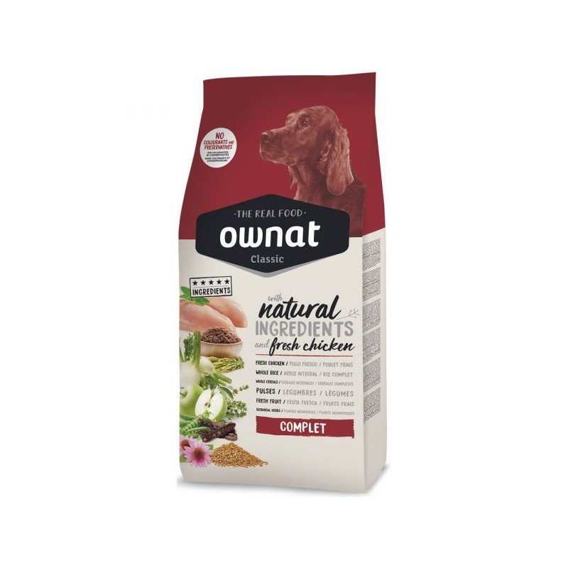 Ownat Classic Complet Chicken & Rice 20Kg