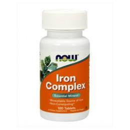 Iron Complex 100 comprimidos Now