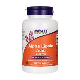 Alpha Lipoic Acid Now 250 mg 60 cápsulas