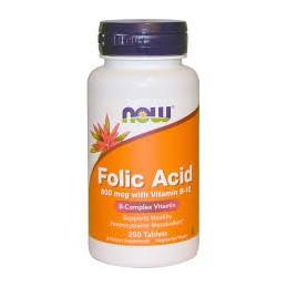Folic Acid 800mg Now