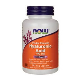 Hyaluronic Acid 100mg Now 60 Capsulas