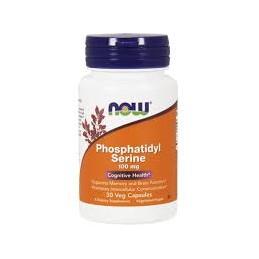 Phosphatidyl Serine 100mg 30 cápsulas vegetais Now