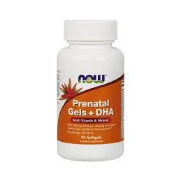 Prenatal Gels + Dha 90 capsulas Now