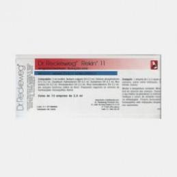 Rekin 11 10 ampolas ( reumatismo osteomuscular, reumatismo articular (dores sacroilíacas, gonalgias), lumbago, ciática)