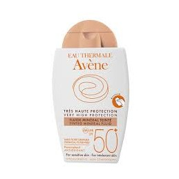 Avene Solar Fluido Mineral C/Cor 50+ 40 ml