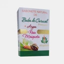 Sabonete Baba de Caracol+ Argan + Rosa Moqueta