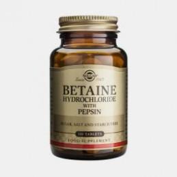 Betain Hydrocloride With Pepsin 100 Comprimidos Solgar