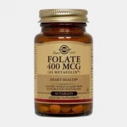 Folate 400 ug 50 Comprimidos Solgar