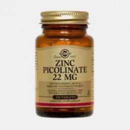 Picolinato de Zinco 22 mg 100 Comprimidos Solgar