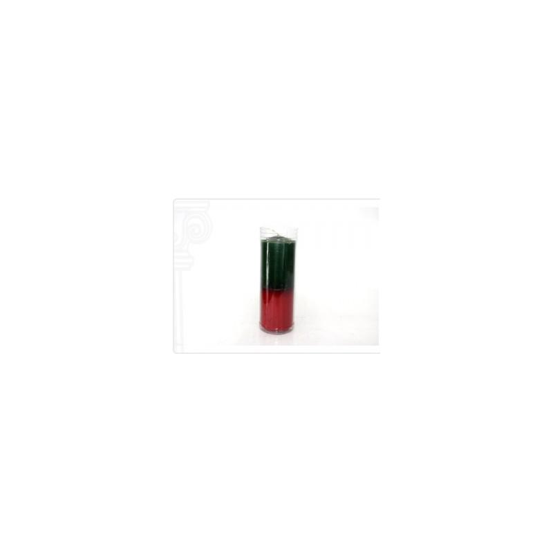 Vela de Copo Vermelho e Verde