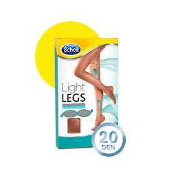 Scholl Light Legs Coll Comp 20 Den Tamanho XL Pele