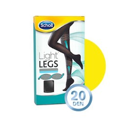 Scholl Light Legs Coll Comp 20 Den Tamanho S Preto