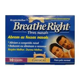 Breathe Right Tiras Nasais Classicas 10 Tiras Grandes
