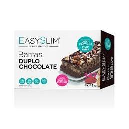 EasySlim Barras Duplo Chocolate 4x42grs