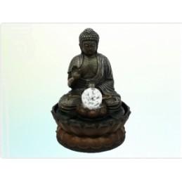 Fonte Buda com Bola e LED 30 cm