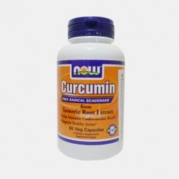 Curcumin Turmeric Root Extract 95% 60 capsulas Now