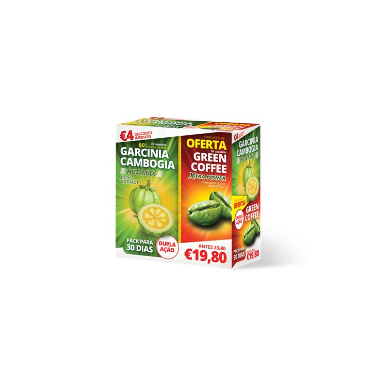 Garcinia Cambogia +Green Coffee 30 capsulas + 30 unidades