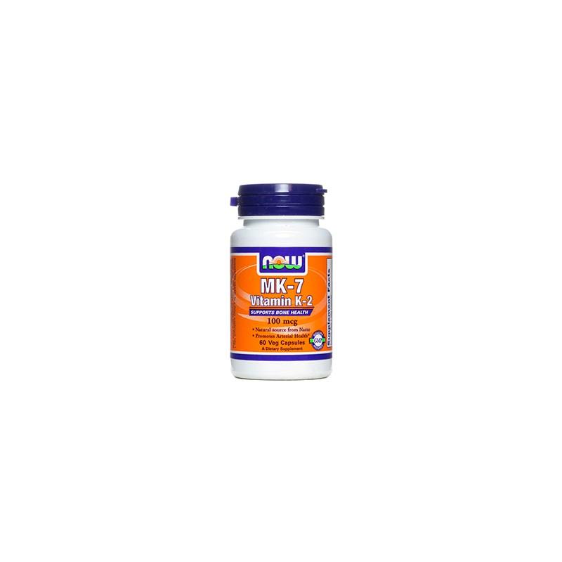 Vitamina K-2 (MK-7)100mg Now 60 cápsulas vegetais