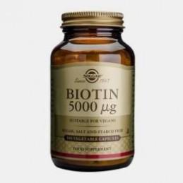 Biotin 5000ug 100 Capsulas Solgar