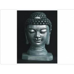 Buda Cabeca Prateado