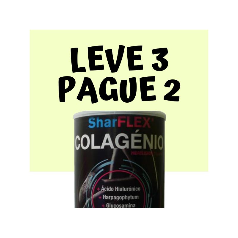SharFlex + Colagénio Hidrolisado em Pó 300g Leve 3 pague 2