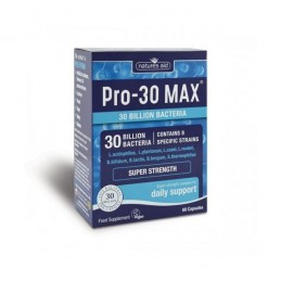 PRO-30 Max 30 Billion Bacteria 60 Cápsulas Nature Aid