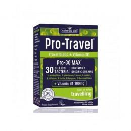 Pro-Travel 30 Billion Bacteria 15 Cápsulas + 15 Comp Nature Aid