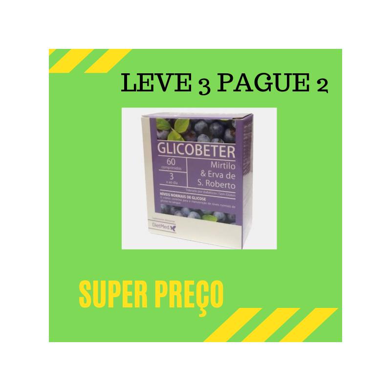 Glicobeter 60 Comprimidos Leve 3 Pague 2