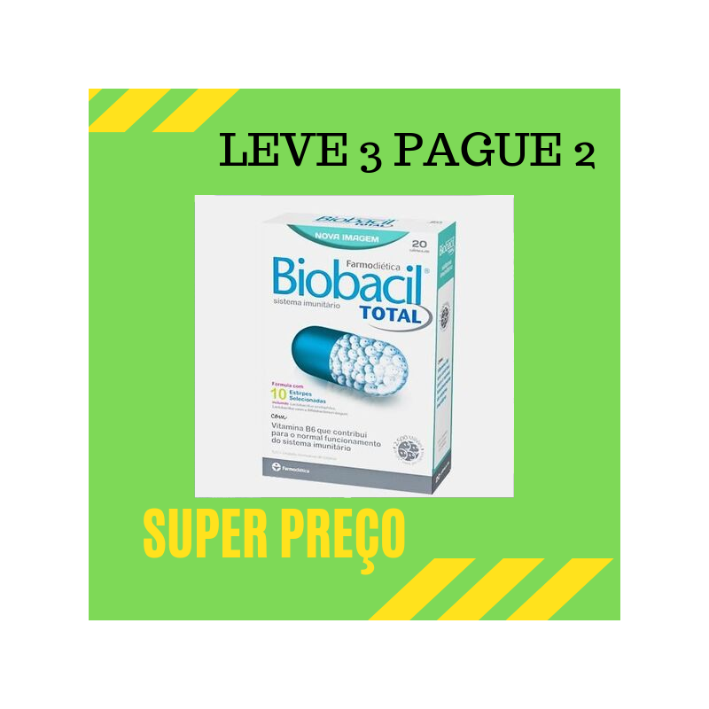 Biobacil Total 20 capsulas de 500mg Leve 3 Pague 2