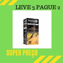 Hidra + Platinium Acido Hialuronico 30 capsulas Leve 3 Pague 2