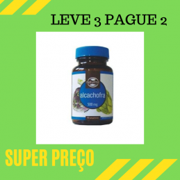 Alcachofra 500mg 90 comprimidos Leve 3 Pague 2