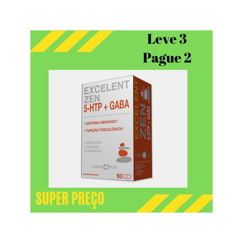 Excelent Zen 5 HTP+ Gaba capsulas Leve 3 Pague 2