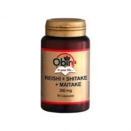 Obire Reishi + Shitake + Maitake 300mg 90 Cápsulas