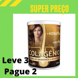 Colagénio + Keratina + Biotina 300g Leve 3 Pague 2